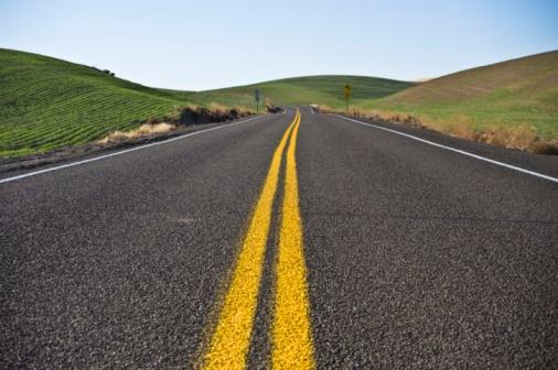 Road through the Palouse Region.