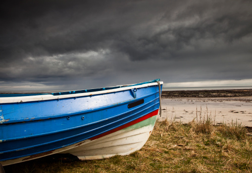 Boat in storm