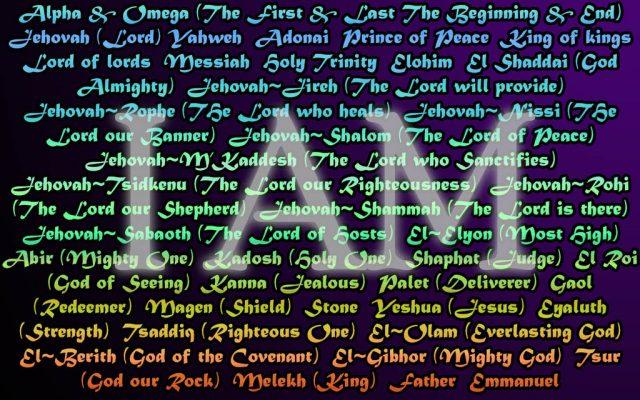 names of God 2