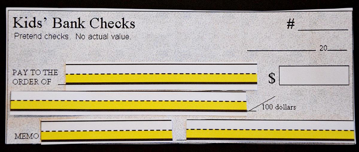 Kids Bank Checks