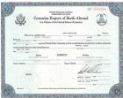 Consular Report of Birth Abroad (Form FS-240 or DS-1350)