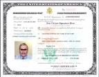 US Certificate of Naturalization