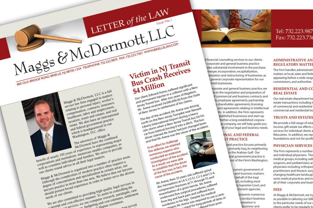 Newsletter for Maggs & McDermott