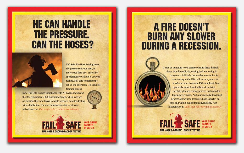 Ad campaign for Fail Safe Hose Inspector