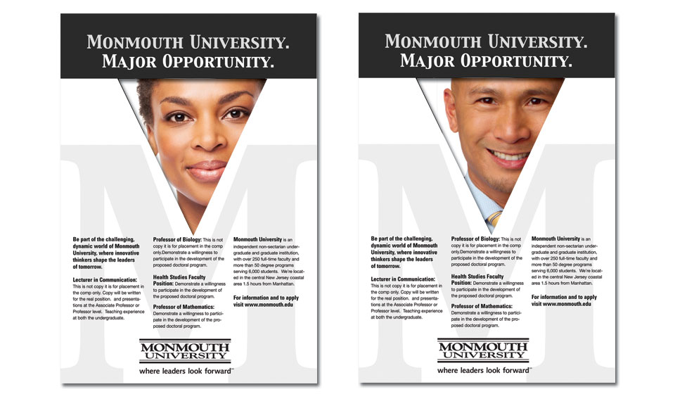 Ad campaign for Monmouth University