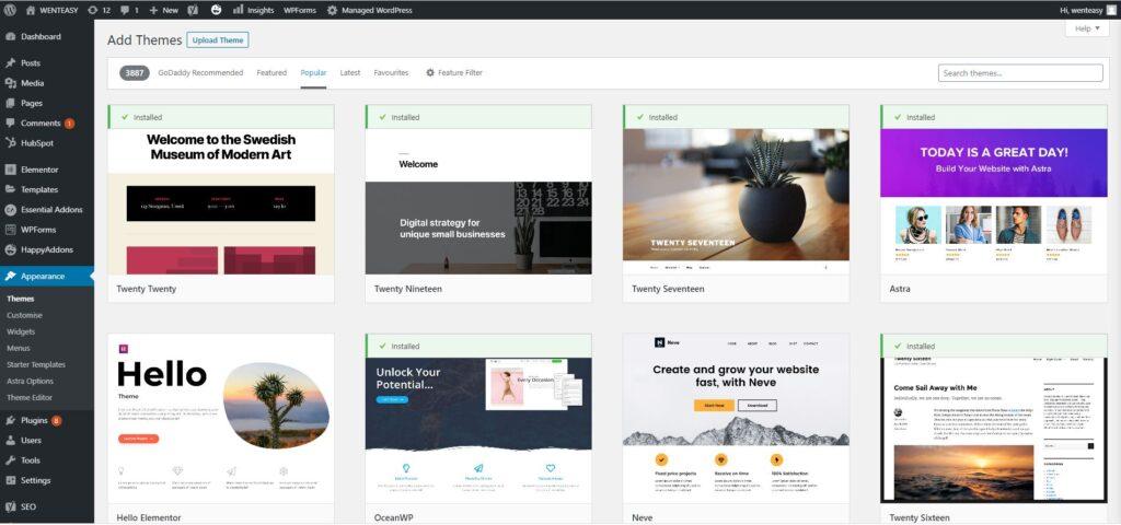 blogging WordPress themes free