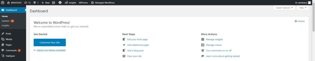 blogging using WordPress