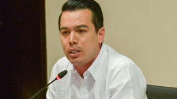 The Secretary General of the Government, Pedro Armentía López