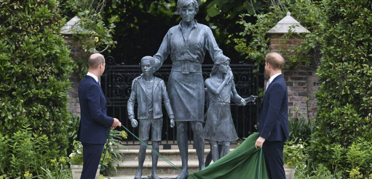 PRINCESS DIANA'S STATUE UNVEILING: HARRY AND WILLIAM REUNITE AND FAMILY TRIBUTES – LIVE UPDATES