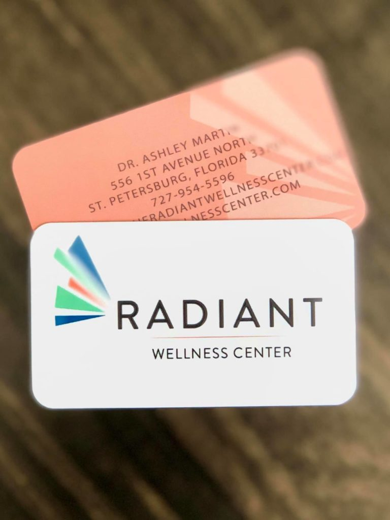 Radiant Wellness Namecard