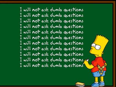 Eric R. Larson Dumb Question