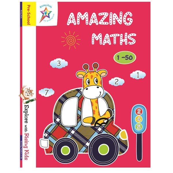Amazing Maths Knowing Number 1-50 Counting Writing Book - Rising Kids- Skool Store