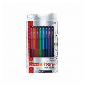 Camlin Kokuyo Tora 1mm Retractable Ball Pen (Pack of 8)