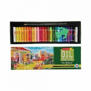 Camlin Kokuyo Oil Pastel + Free 1 Drawing Pencil - 25 Shades