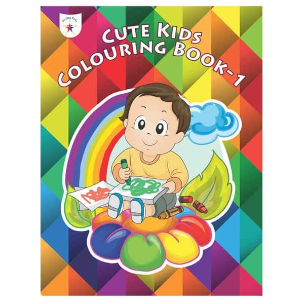 Cute Kids Colouring Book Part 1 Rising Kids (Drawing Book) Skool Store