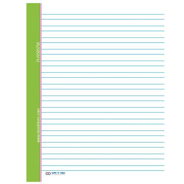 Reusable Hindi Notebook - Double Line Notebook- Write and Wipe- Skool Store