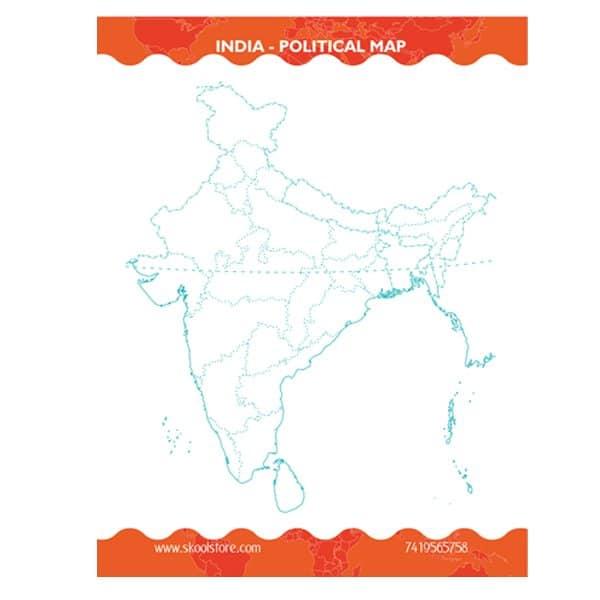 Reusable India Political Map Practice Book - Skool Store