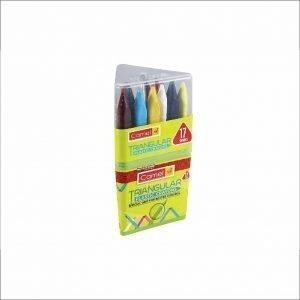 Camlin Kokuyo Triangular Plastic Crayons - 17 Shades