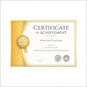 Customized Certificates in Yellow Colour (pack of 50)