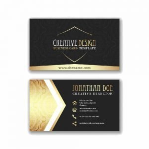 Black Yellow Business Card Design (Pack of 100)