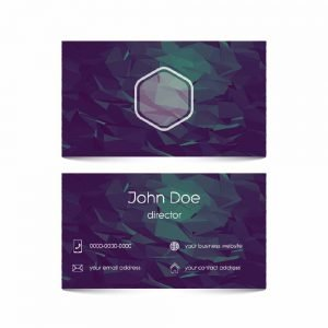 Purple colour Business Card (pack of 100)