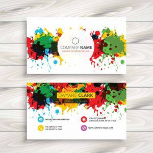 Abstract Colorful Grunge Ink Splash business card (Pack of 10)