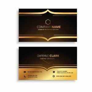 Business Card in Orange Yellow and black colour (Pack of 100)