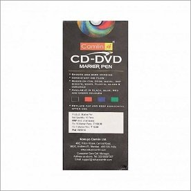 Camlin CD-DVD Marker Pen (Pack of 4) Assorted Colors (Black, Blue, Red, Green) 2