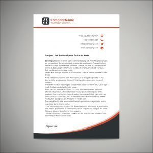 Customized Letterhead (pack of 100)