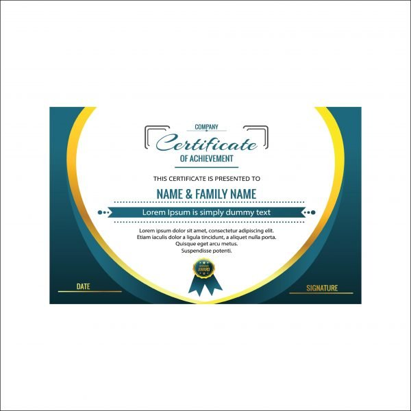Customized Certificates of achievements (Pack of 50)