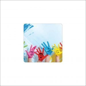 Smiley Hands Coasters (pack of 5)