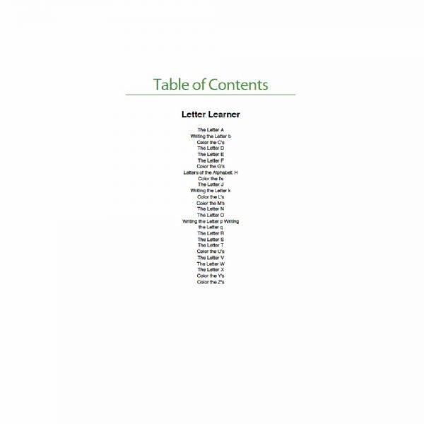 Customised Workbook Letter Learner 1