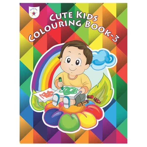 Cute Kids Colouring Book Part 3 Rising Kids (Drawing Book) Skool Store