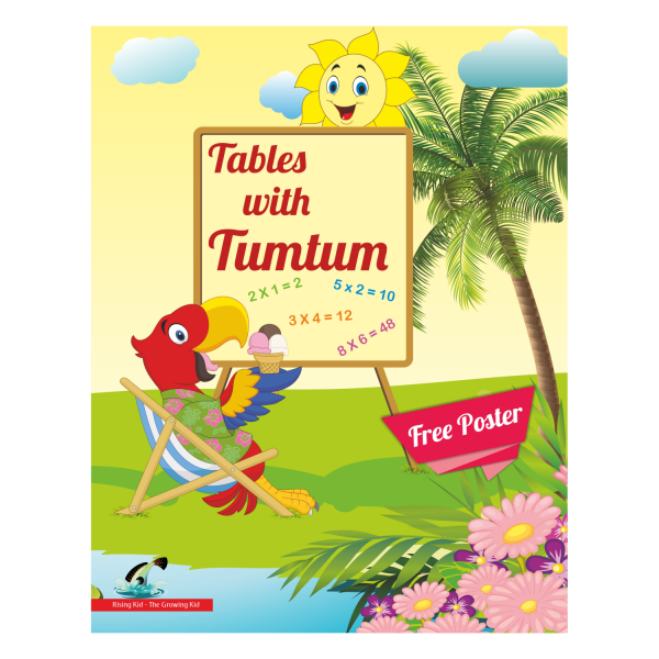 Table with Tumtum Table Book for kids (tables book 1 to 20) - Rising Kids
