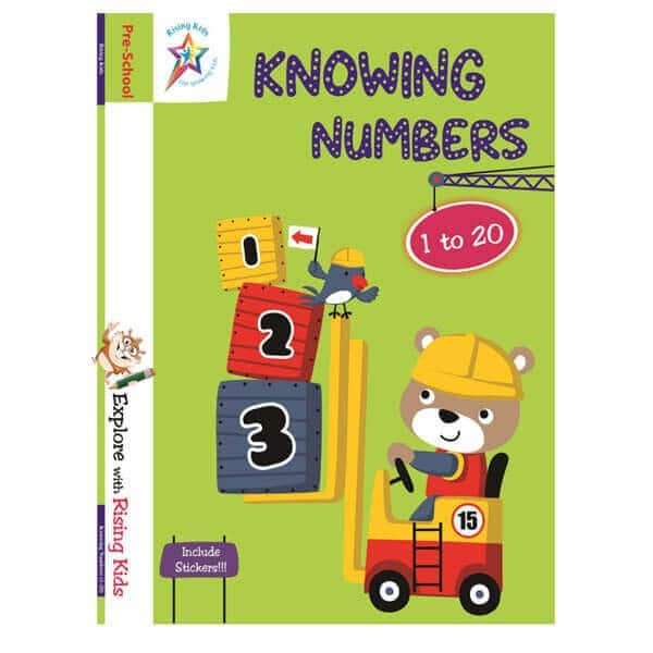 Knowing Numbers 1 to 20 Book -Rising Kids - Skool Store