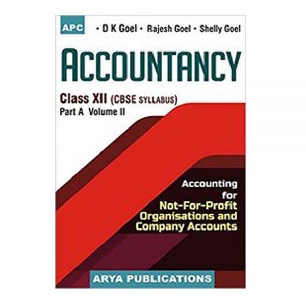 Accountancy for Class 12th Part A Vol. 2 Arya Publication
