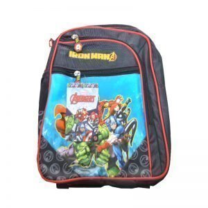 Marvel Avengers School Bag For Kids - Iron Man Black