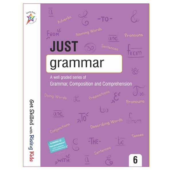 Just Grammar Book Class 6th - Rising kids -skool store