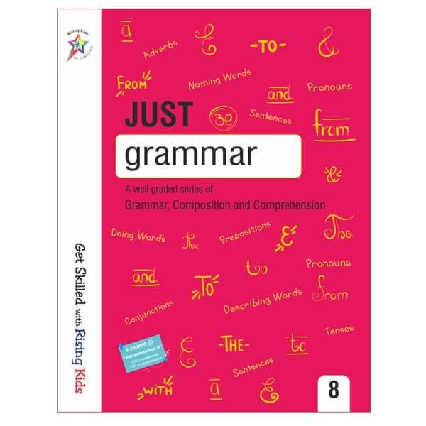Just Grammar Book Class 8 - Rising kids -skool store
