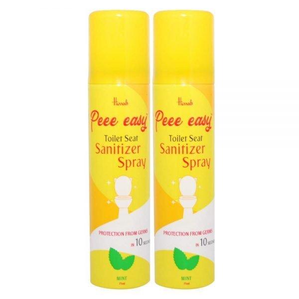 Peee Easy Toilet Seat Sanitizer Spray - 75 ml (Mint) (Pack of 2)