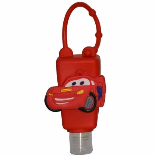 The Love Co. Hand Sanitizer Pack Of 2 (IPA) 30 ml With Bag Tag (Disney PIXAR Cars Lightning Speed - Car Red)