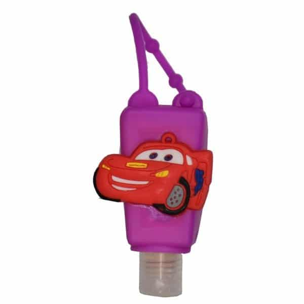 The Love Co. Hand Sanitizer Pack Of 2 (IPA) 30 ml With Bag Tag (Disney PIXAR Cars Lightning Speed - Car Purple)