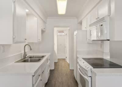 White theme kitchen station