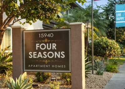 Four Seasons Apartment Homes Sign