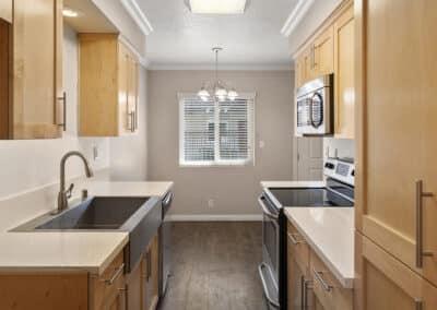 Kitchen station with modern appliances