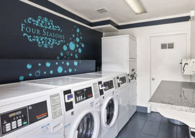 Laundry machines in the laundry room