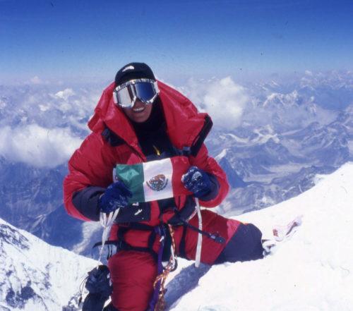 En la cima del Everest