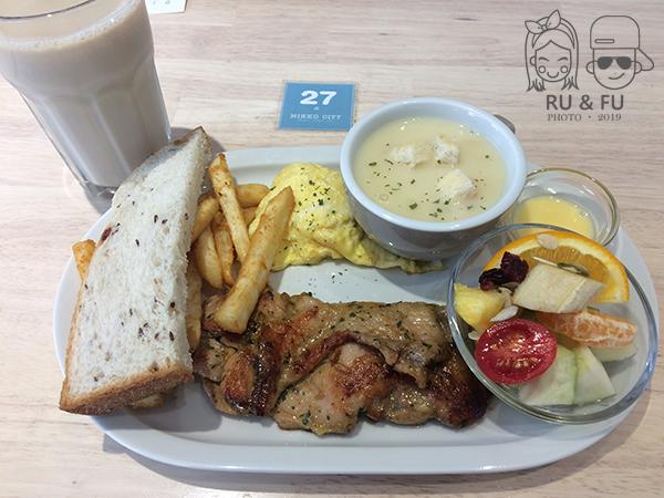 高雄早午餐圖片-餐點雞腿