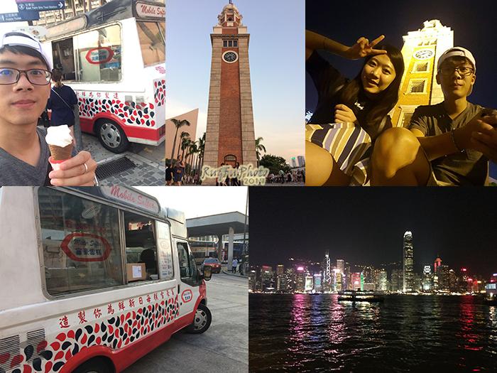 香港圖片-富豪雪糕車+鐘樓+幻彩詠香江