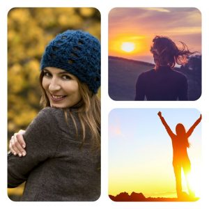 collage-fall-woman-running-sunset